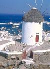 Eine der Windmühle - das Wahrzeichen von Mykonos-Stadt